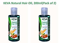Ayurvedic Natural Hair Oil, 200ml(Pack of 2) Enriched with Almond Oil & Vitamin E for Hair Growth and Nourishment for Men and Women