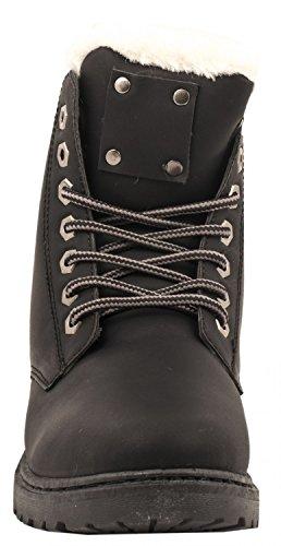 d3bdf8f6ef9058 Elara Damen Worker Boots Bequeme Warm Gefütterte Schnürrer Outdoor ...