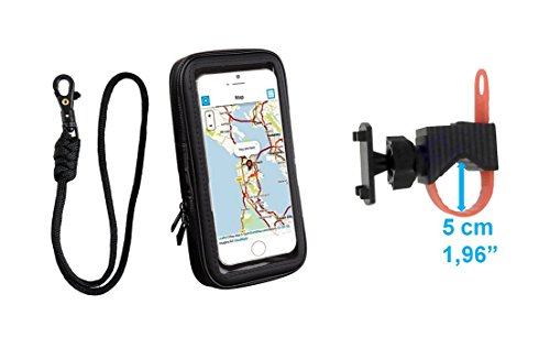 Color Dreams® Bike phone Holder, bicycle or motorcycle mount holder with waterproof mobile case up to 5.5