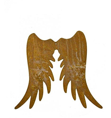 Metallmichl Edelrost XL- Engelsflügel schmal 50 cm hoch Engel DIY aus rost ()