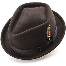 SKKMALL Sombrero de Fieltro Fedora Sombreros de Fieltro de Lana 100%  australianas Sombrero de Fieltro f966eb019ca