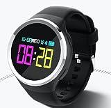 Torus Pro Rosa N69schwarz Herzfrequenzmesser und wasserdicht Fitness Activity Tracker Smart Armband Uhr mit Blut Sauerstoff Monitor und Blutdruckmessgerät, Farbe Bildschirm, Schrittzähler und Kalorienzähler Plus Sleep Monitor und USB-Lade -