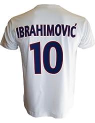 T-shirt PSG - Zlatan IBRAHIMOVIC - N°10 - Collection officielle PARIS SAINT GERMAIN - Football club Ligue 1 - Taille adulte homme