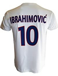 T-shirt PSG - Zlatan IBRAHIMOVIC - N°10 - Collection officielle PARIS SAINT GERMAIN - Football club Ligue 1 - Taille adulte homme