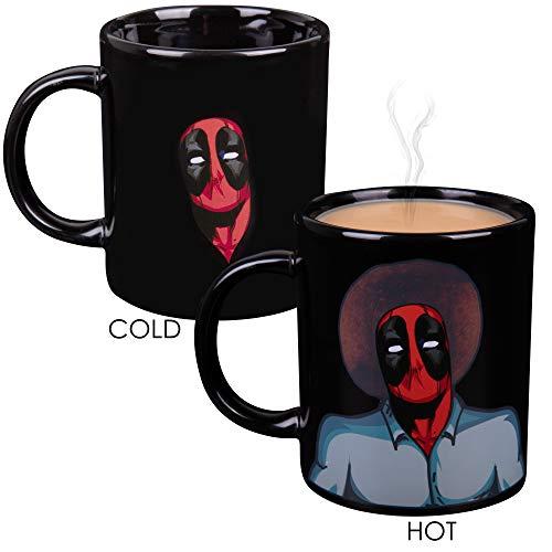 Marvel Deadpool Hitze Reveal Kaffeebecher aus Keramik-Bob Ross Bild und