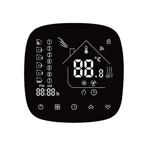 Decdeal Termostato per Caldaia a Gas - Termostato Programmabile, Controllo Vocale, Risparmio Energetico, Display LCD Ultra Sottile, Compatibile con Alexa/Google
