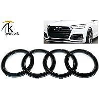 k-electronic Audi Q5 FY Emblema Negro Brillante/Audi Anillos Enfriador Parrilla Frontal Delantera