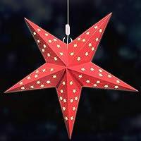 60cm Papierstern Faltstern Dekostern Weihnachtsstern 2pcs 40cm
