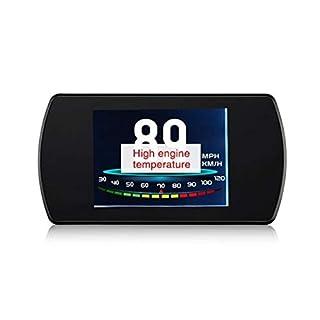 Jasnyfall Auto-Scanner-Projektor Head-Up Display mit Spiegel-Projektionsgeschwindigkeit Projektor,schwarz