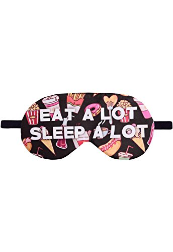 Schlafbrille Fullprint Eat A Lot Sleep A Lot Junkfood Fast Food Schlafmaske Brille Augenmaske Augenbinde Sleep Eye Mask Schlafhilfe