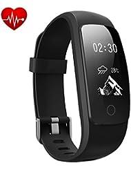 Fitness Tracker, DeYoun IP67 Wasserdichte Smart Fitness Armband mit Pulsmesser / Schlaf-Monitor/ Kalorienzähler / Musiksteuerung / 14 Sport-Modus, Aktivitätstracker Podometer für Android and iphone