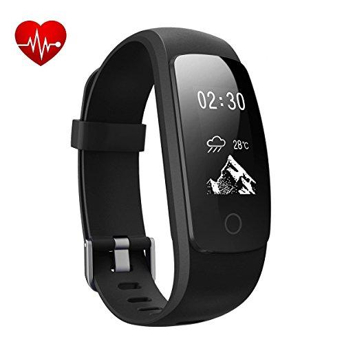 Braccialetto Fitness, DeYoun Fitness Tracker cardiofrequenzimetro da polso con Sonno Monitor / Calorie Counter / Pedometro /14 modalità di allenamento, IP67 Activity Tracker per IOS Android Smartphone