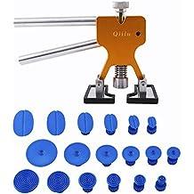 Qiilu Kit de herramientas para reparación de abolladuras Coche - Tirador del pegamento del levantador +