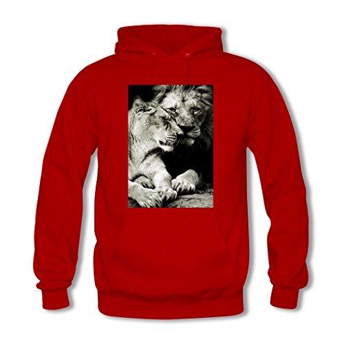 weileDIY Lovers DIY Custom Classic Women Hoodie Sweatshirt Red_A
