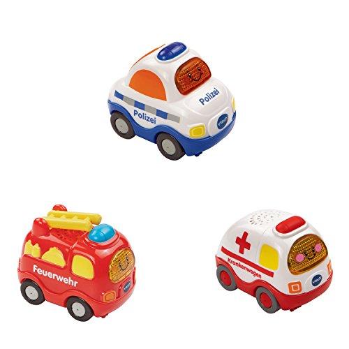 Preisvergleich Produktbild VTech Baby 80-205854 - Tut Tut Flitzer - Fahrzeug - Feuerwehr, Polizei, Krankenwagen, 3-er Set