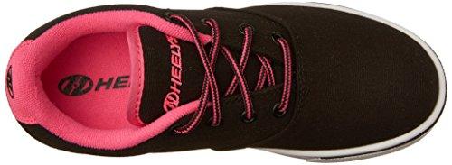 Heelys Unisex Launch Sneaker Low Hals Schwarz (Black / Neon Pink / White)