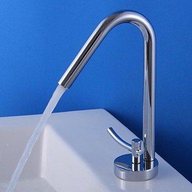 SUNNY KEY-Waschbecken Wasserhahn @ Zeitgenössische Chrom Centerset Badezimmer Waschbecken Wasserhahn einzelne Einlochmontage - Wasserhahn Waschbecken Einzelne Badezimmer
