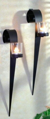 Kerzenhalter für Wandmontage aus Metall, 2-er Set