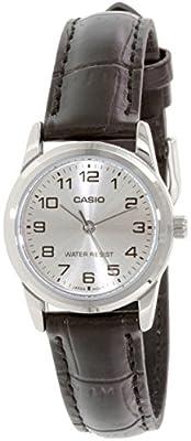 CASIO LTP-V001L-7 - Reloj con movimiento cuarzo, para mujer, color plateado y marrón