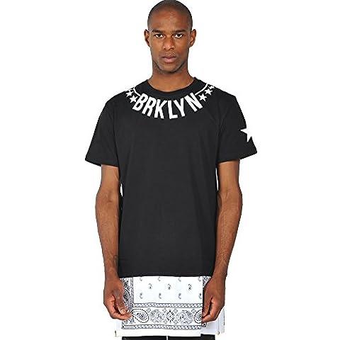 Camiseta larga con aplicación tejida y cremallera de extensión de Pizoff estrella BRKLYN Paisley