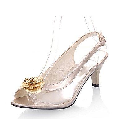LvYuan Habillé Décontracté Soirée & Evénement-Noir Argent Or-Kitten Heel-Autre-Sandales-Matières Personnalisées Similicuir Gold