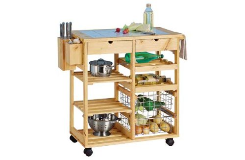 kesser® bambus küchenwagen küchentrolley küchenschrank ... - Rollwagen Für Küche