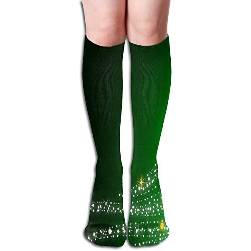 ittering Green Christmas Tree Unique Womens Stocking Decor Sock Clearance For Girls ()