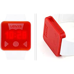 Levis Invincible LCD Touch ScreenFashion Unisex Red White Wrist Watch LTH0902