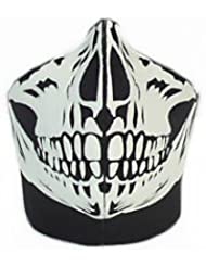 "GOODSPORTS© - Masque Protection Demi Cagoule Neoprene ""Black skull - Ghost Tete de mort"" - Taille unique réglable - Airsoft - Paintball - Outdoor - Ski - Snow - Surf - Moto - Biker - Quad"
