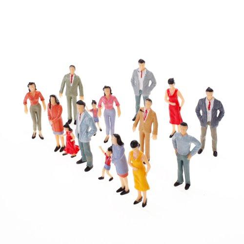 Sharplace 2X 100pcs 1:150 Gemalt Modellbahn Passagier Menschen Zahlen Modell Figuren für Eisenbahnlandschaftsbau / Verbessern Das Erscheinungsbild Ihrer Landschaft und Einen Hauch von Realismus