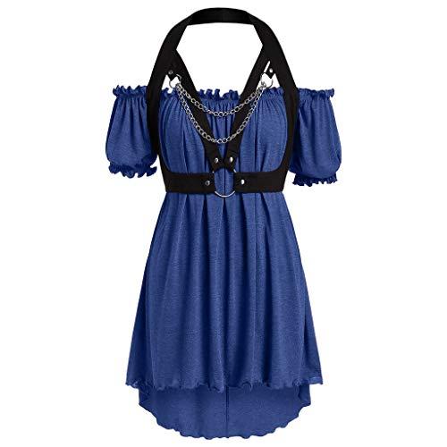 950er Jahre Stil Kurzarm formale Größe Retro Schulter Tau Kleid ()