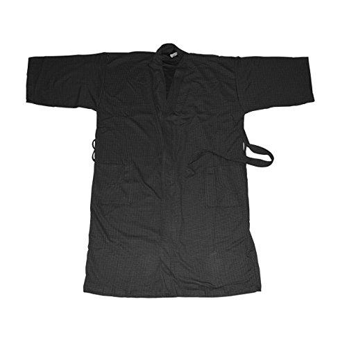Canyon Rose Unisex Waffle Weave Spa Robe, Black, M/L