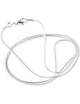 Pink ® Halskette Unisex Frauen Schmuck Kette Schlangenkette rund Snake Chain lang aus , Halskette Länge 46 cm...