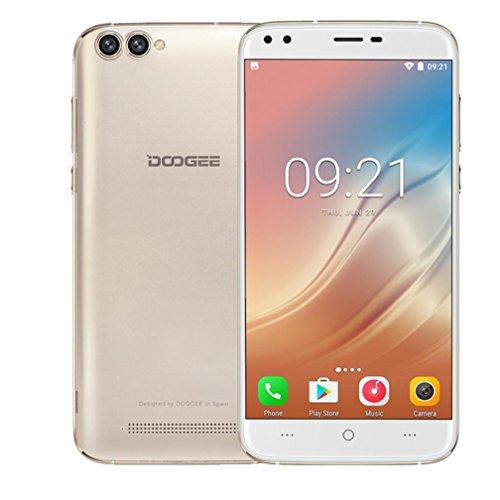 Smartphone Handy , Hunpta DOOGEE X30 Android 7.0 2G + 16G 5.5 Zoll 3G Smartphone Quad Core Dual SIM 3360mAh (Gold)
