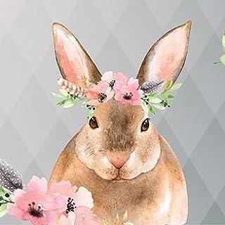 Anna Wand Bordüre selbstklebend Friendly Forest- Wandbordüre Kinderzimmer/Babyzimmer mit mehrfarbigen Waldtieren auf Grau – Wandtattoo Schlafzimmer Mädchen & Junge, Wanddeko Baby/Kinder