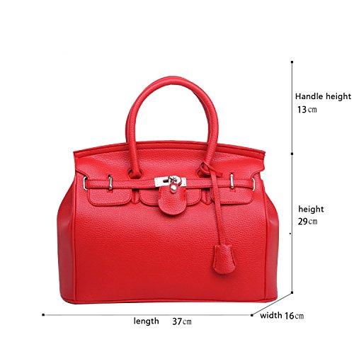 Sunas 2017 nuovo Femminile Borsa a mano Stile Casual Retro blocco rotazione Borsa messenger Moda Portafoglio rosso