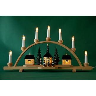 Schwibbogen-Lichterbogen-Seiffener-Dorf-10flammig-innenbeleuchtet-Weihnachten-Advent-Geschenk-Dekoration-10033