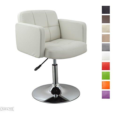 Clubsessel Sessel Kunstleder Weiß Esszimmerstuhl Lounge Sessel höhenverstellbar drehbar Farbauswahl - TYP 524A
