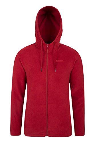 Mountain Warehouse Camber Hoodie für Herren - Extra Komfort, weiche Jacke, atmungsaktiv, schnelltrocknend, pillingfrei, leichtes Hoodie - Für Wandern, Camping und Alltag Rot XX-Large