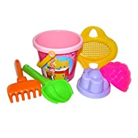 Polesie 528 229 Decorated Sieve, Shovel, Rake No.2, 2 Forms-Sets: Flower Bucket, Small, Multi Colour
