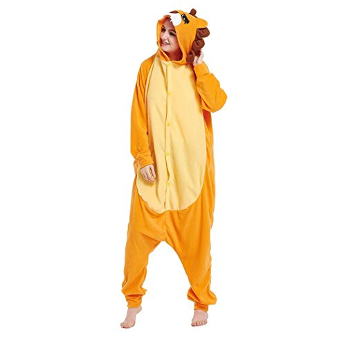 HXQ Unisex Adult Pyjamas Cosplay Tier Onesie Schlafanzug - Löwe , XL: (height 178-188cm) (Löwe Frauen Halloween Kostüm)
