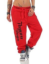 Roter Damen Freizeitanzug Jogginganzug in College Design mit