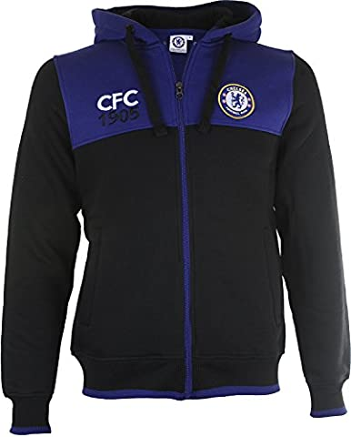Chelsea FC 1341500 Sweat-Shirt Adulte Football, Noir/Royal, FR : XL (Taille Fabricant : XL)