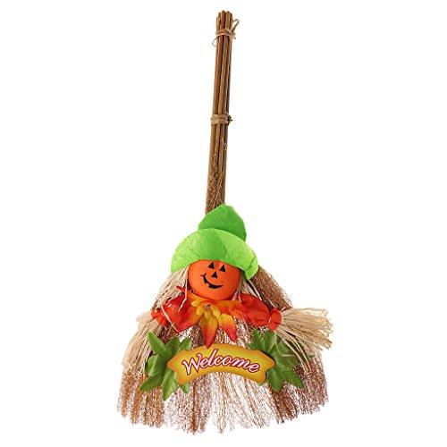 (Sharplace Halloween Deko Hexen Besen Party Dekoration - Kürbis)