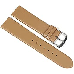 Berlin Replacement Watch Strap Calf Leather Band Brown/Beige 23206S Bridge Width: 12 mm