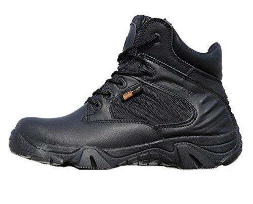 WZG Besondere Kräfte Männer niedrige Stiefel Desert Boots seitliche Reißverschlusskampfstiefel Wanderschuhe Stiefel Spitze Stiefel zu helfen Black