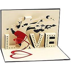 Tarjeta San Valentín 3D