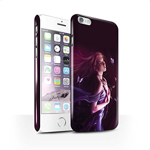 Officiel Elena Dudina Coque / Clipser Brillant Etui pour Apple iPhone 6S / Lagune À la Nuit Design / Un avec la Nature Collection Par le Vent