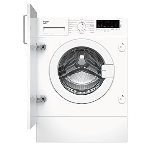 Beko WIY74545 A+++ 7Kg 1400 Spin Built In Washing Machine with LED Display in White