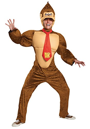 Super Mario Bros Nintendo Donkey Kong Deluxe Costume Adult X-Large ()